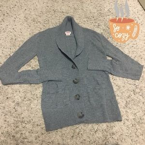 ❤️Heather gray shaw collar button front cardigan